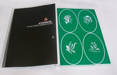 Temporary  Airbrush Tattoo Stencil Template Booklet 9 100 designs for glitter tattoo kit supplies