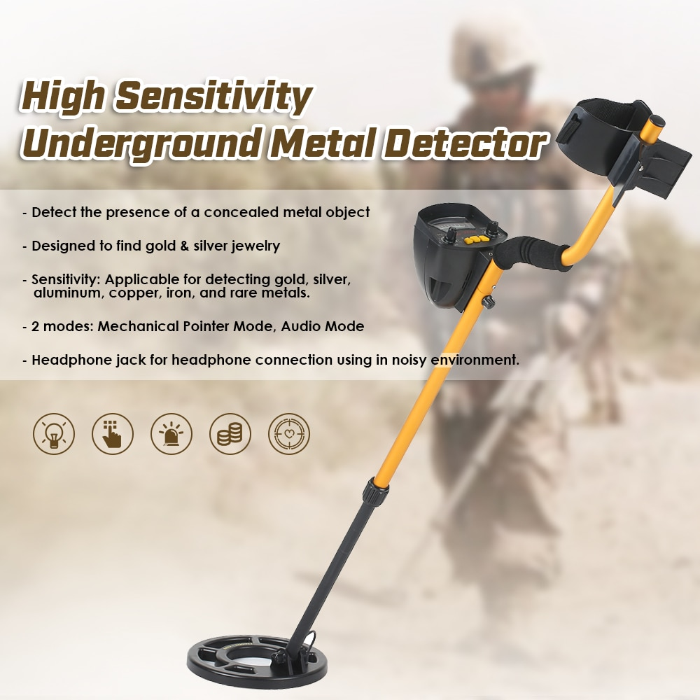 KKmoon MD3009II Metropolitana Metal Detector oro Regolabile detector pinpointer Treasure Hunter Metal Finder Tracker In Cerca di StrumentoKKmoon MD3009II Metropolitana Metal Detector oro Regolabile detector pinpointer Treasure Hunter Metal Finder Tracker In Cerca di Strumento
