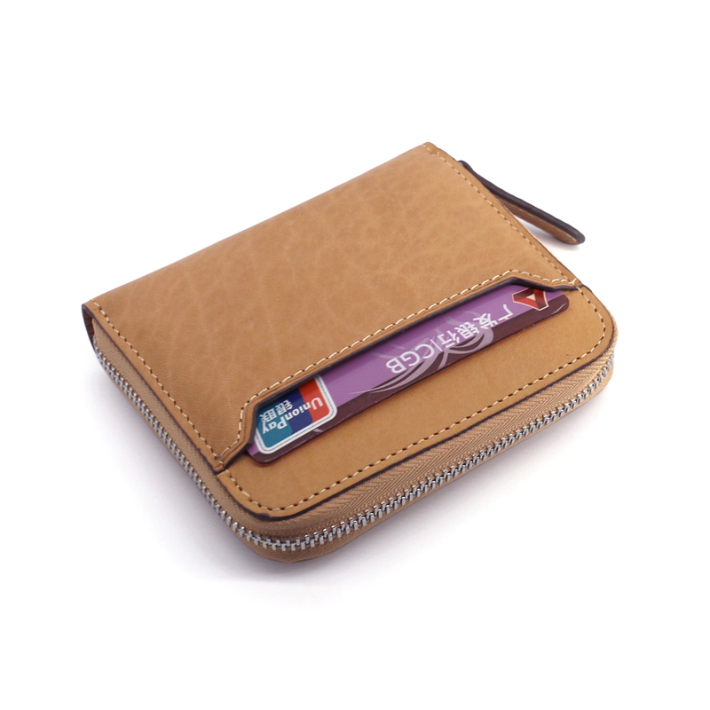 Luxury Real Leather Small Coin Tray Wallet Pouch Pocket Change Case Gift Boxed