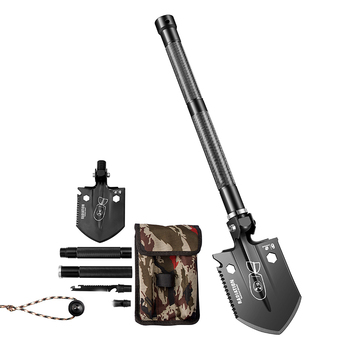 HX OUTDOORS Sapper Shovel Multifunction Camping Shovel Folding Shovel Outdoor Carry Gear Shovel Knife Tool Mini Good