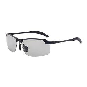 Image 2 - カメレオンサングラス女性太陽紫外線変色レンズメガネサングラス車駆動フォトクロミック男性の偏光サングラス