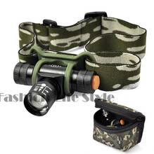 CREE Q5 300LM LED 3 Mode Zoomable Headlight Torch Light Head Lamp With Bag Free Shipping TK0219