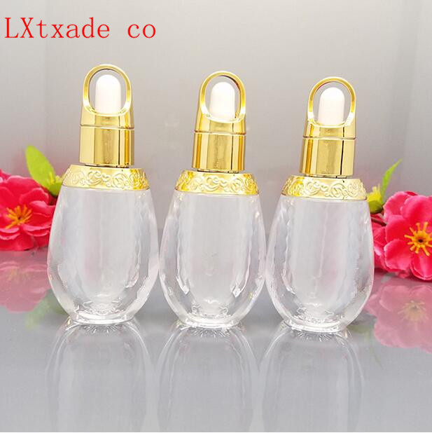 Free Shipping 10ml Empty Frosted Tattoo pigments Pack Bottle New Style Golden Top Grade Perfume Parfume