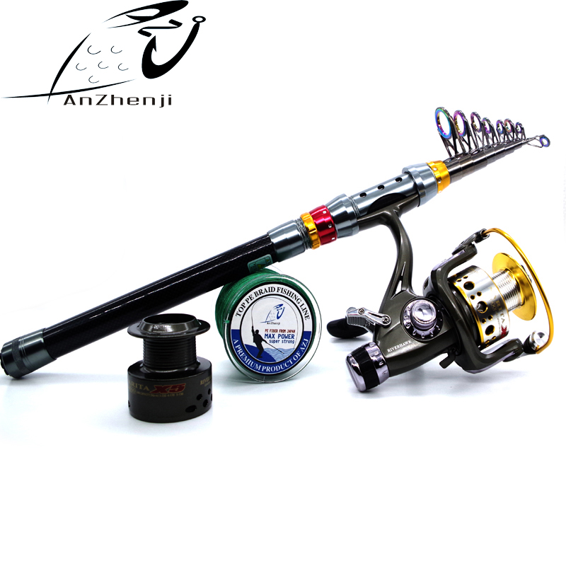 2018 New Rod Combo Carbon Telescopic Sea Fishing Rod with Fishing Line and Fishing Reel Saltwater Freshwater peche Rod Kit rod combo high carbon ultralight fishing rod 1 95 2 7m sea boat fishing with fishing rod