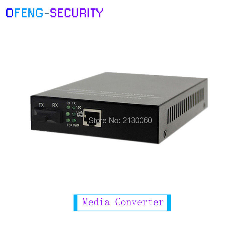 10/100M Multimode Dual Fiber Transmission Distance 0-2KM,SC Port, AC 220V.Built-in Power Supply