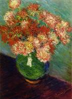 High quality Oil painting Canvas Reproductions Vase of Chrysanthemums By Claude Monet hand painted