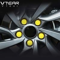 For Hyundai Creta Ix25 Wheels Screw Cover Wheel Hub Decoration Hub Caps Silicone Exterior Car Styling
