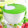 Kitchen Accessories 4.5L Mini Kitchen Salad Spinner Dry Strain Herbs Lettuce Vegetables Washer Drainer R20