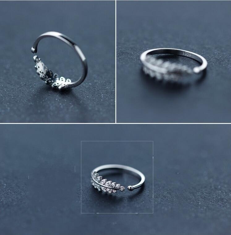 """""""Shuangshuo"""" nauji atvykimo sidabro žiedai moterims mergaitėms - Mados papuošalai - Nuotrauka 2"""