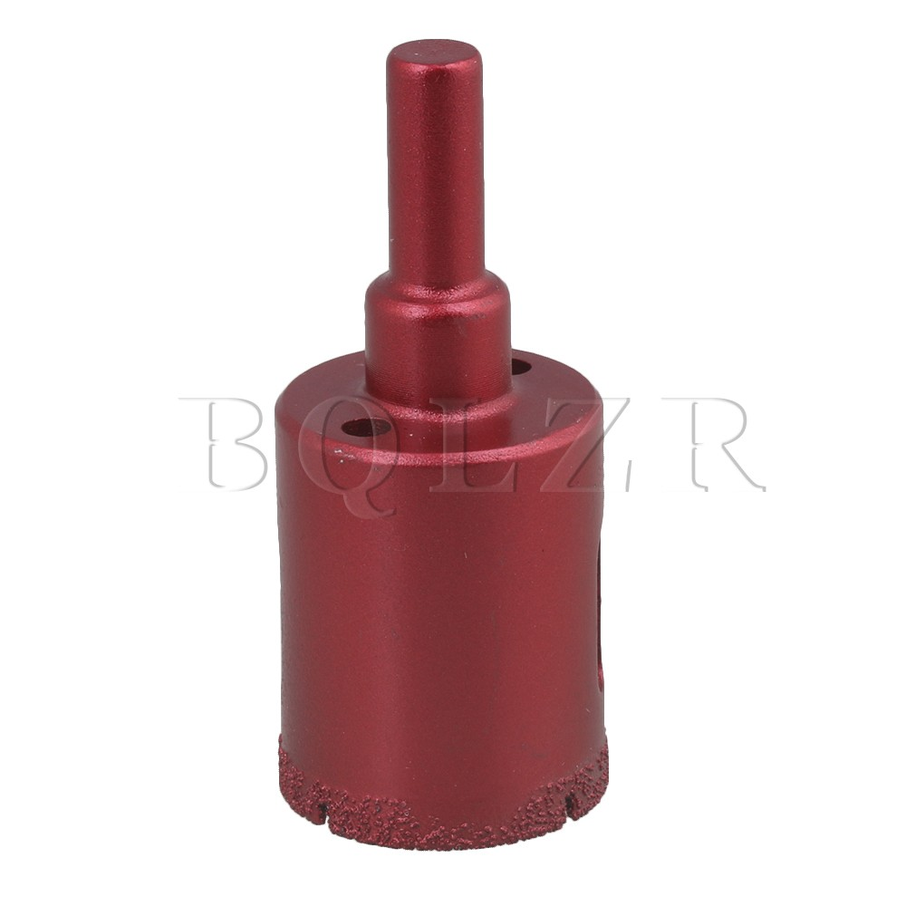 28mm Red Diamond Hole Saw Drill Core Bit for Marble Glass Tile Cutter CNBTR new 50mm wall hole saw drill bit set 200mm connecting rod with wrench mayitr for concrete cement stone