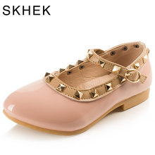 SKHEK Rivets Girls Shoes Children Shoes Kids flat Sneaker White Pink Red Black For 1-6 Years baby New Fashion Sandals New Hot(China)