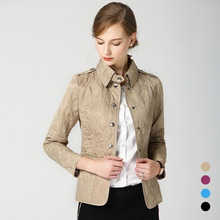 2018 autumn and winter with new lapel long sleeves slim complex coat B19
