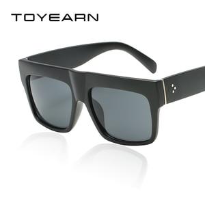 Fashion Vintage Brand Designer Lady Big Square Sunglasses Women Rivet Eyewear Flat Top Black Sun Glasses Female