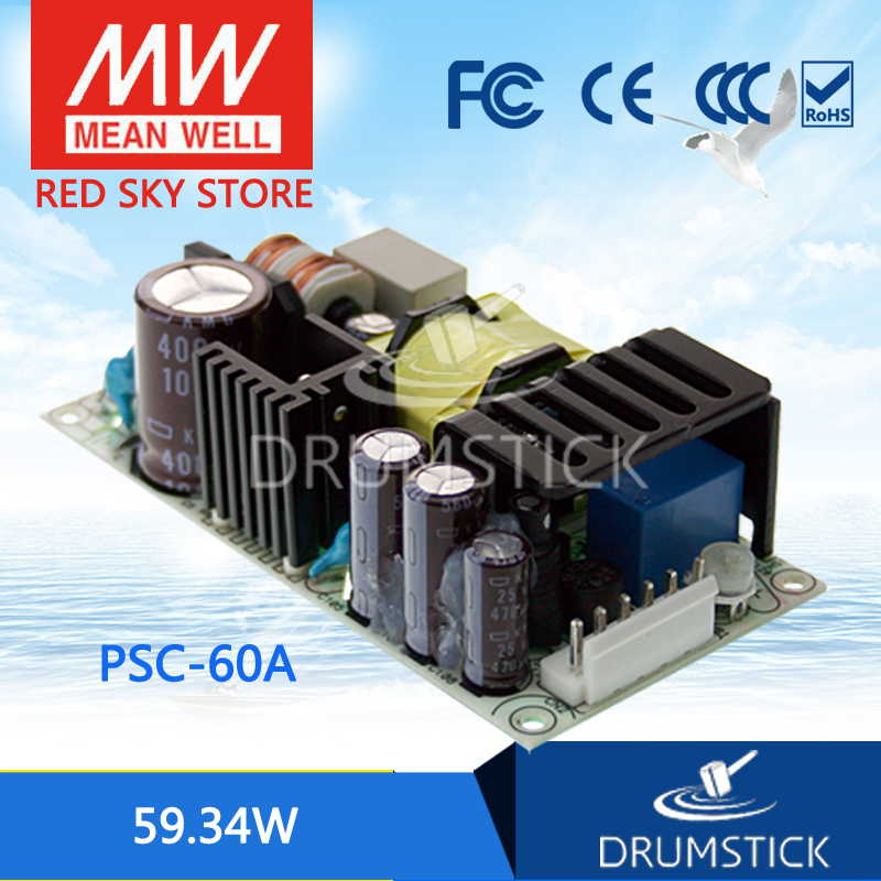 Steady MEAN WELL PSC-60A 13.8V meanwell PSC-60 59.34W Single Output with Battery Charger(UPS Function) PCB type
