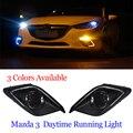 Высокая мощность автомобиля ПРИВЕЛО drl дневного света с супер яркий диммер функция для Mazda 3 Axela 2013 2014 2015 2016