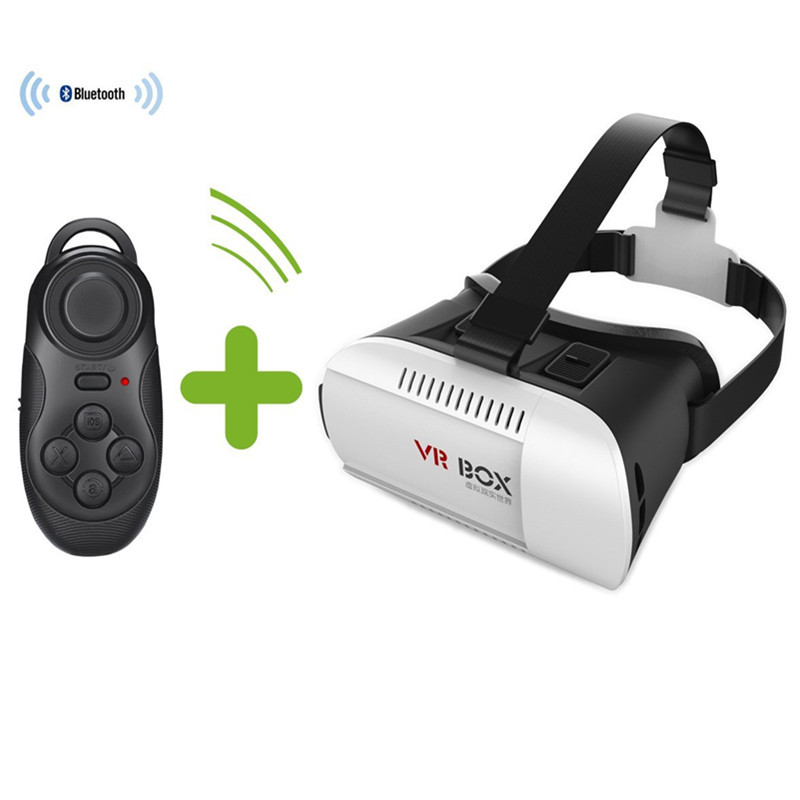 Hot sale! 2016 New 3D Video Glasses VR Box Virtual Reality + Smart Bluetooth Game Controller