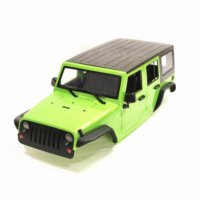 Sin montar 12,3 pulgadas 313mm de distancia entre ejes jeep pelear cuerpo Shell del coche para 1/10 RC Crawler Axial SCX10 y SCX10 II 90046, 90047