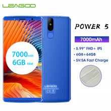 LEAGOO Power 5 6GB 64GB Mobile Phone Android 8.1 MTK6763 Oct