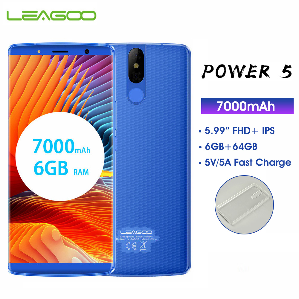 LEAGOO puissance 5 6GB 64GB téléphone portable Android 8.1 MTK6763 Octa Core 5.99