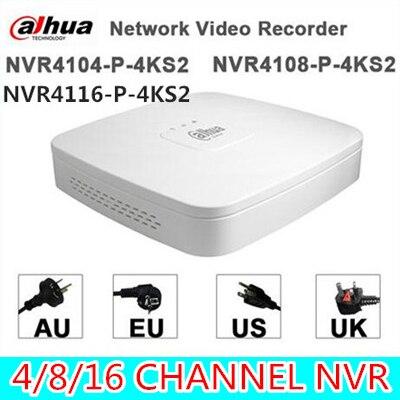Original egnlish version Dahua NVR4104-P-4KS2 and NVR4108-P-4KS2 replace NVR4104-P and NVR4108-P POE 4/8ch 1U smart NVR 4PoE 2014 new arrival dahua smart 1u nvr with p2p mini nvr nvr4104 nvr4108 nvr4116 free dhl shipping