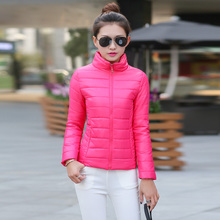2017 women winter basic jacket ultra light candy color spring coat female short cotton outerwear jaqueta feminina