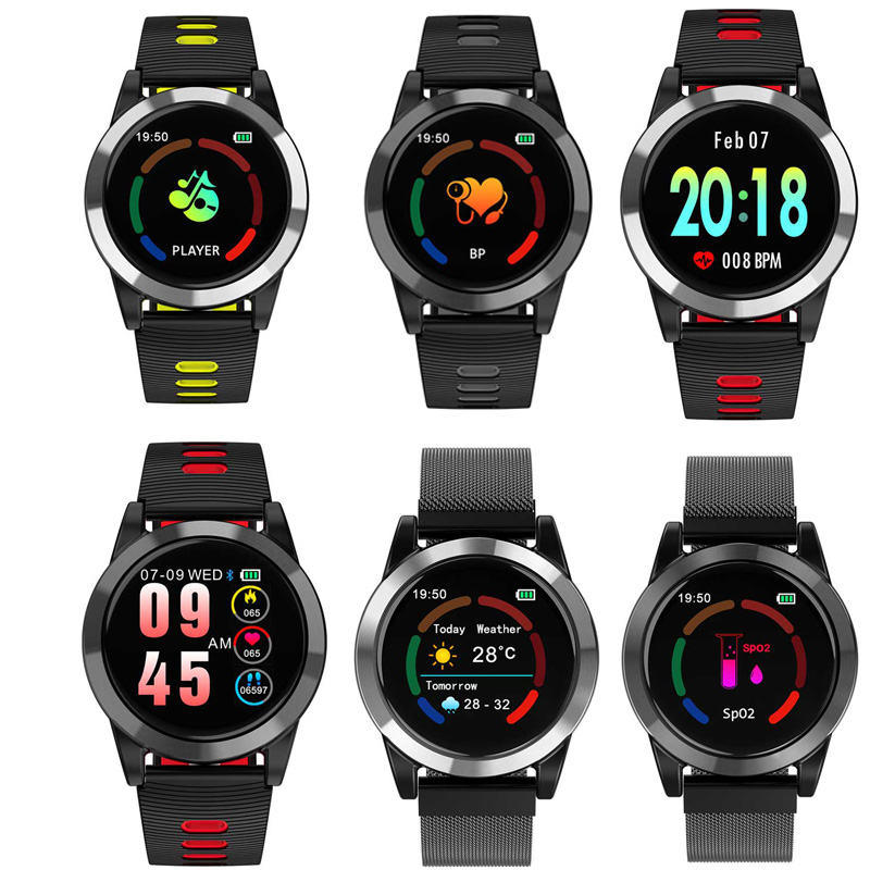 R15 tasto di tocco di trasporto del braccialetto di sport di salute pedometro dinamica della frequenza cardiaca di colore dello schermo di bluetooth braccialetto intelligente