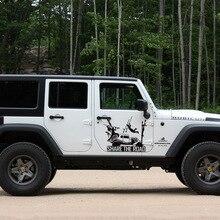 Автомобильная наклейка 2 шт. Боковая дверь max mad share the road графическая виниловая Автомобильная наклейка для Jeep Wrangler Unlimited Rubicon