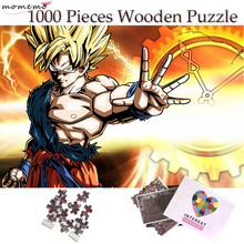 MOMEMO 1000 Pieces Wooden Puzzle Excellent Dragon Ball Sun Goku Jigsaw for Adult Toys Home Decoration Collectiable Gift