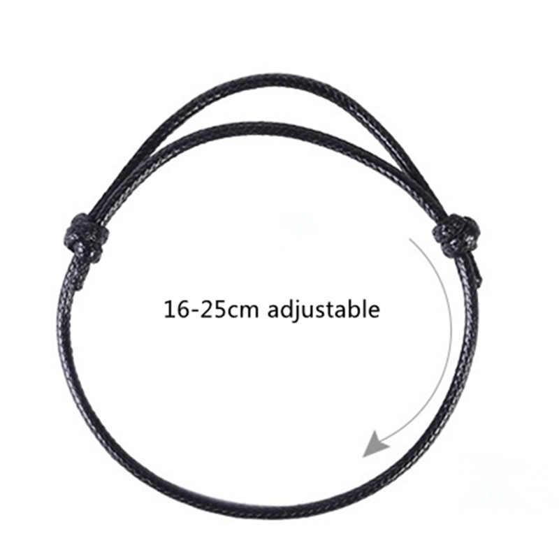 אופנה 2Pcs פשוט נשים גברים חבל צמיד נשים מתנות שחור מפתח לב מנעול כוכב Handmad זוג תכשיטי חבל