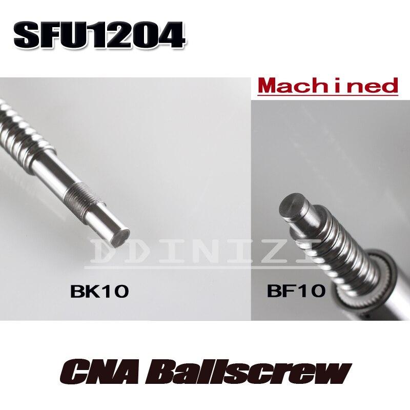 SFU1204 conjunto: SFU1204 laminados tornillo C7 con mecanizado + 1204 bola tuerca + tuerca Vivienda + BK/BF10 final soporte + acoplador RM1204 - 2