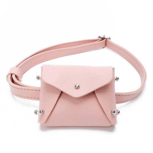 c9e1654098fd Cute Children Mini Girl Wait Bag Rivet Fashion Fanny Shoulder Pack Coin Purse  Bag Woman Crossbody Chest Bags Small Messenger Bag