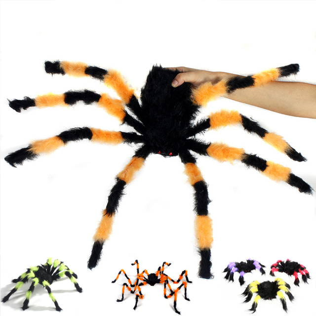 babaite vivid plush halloween spider prop decoration festive supply house party bar big size toy spiders