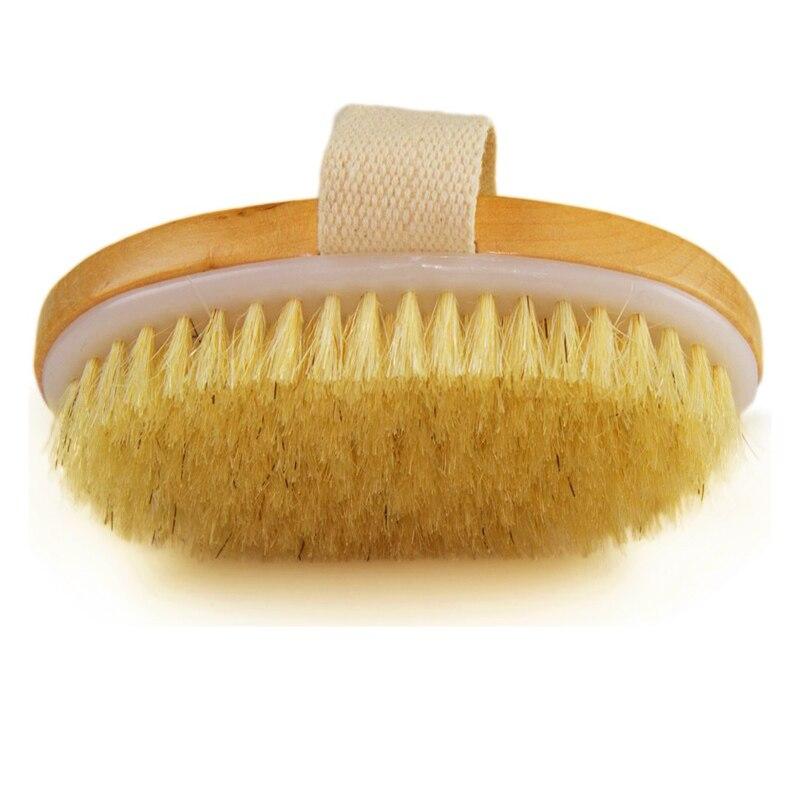 Natural bristle dry skin brush
