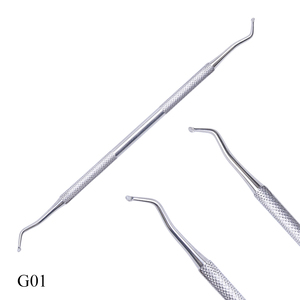 Image 4 - Dual ended Silver Groove Pick Toe Finger Corrector Cuticle Pusher Stainless Steel Remover Dead Skin Manicure Nail Tools LAG01 07