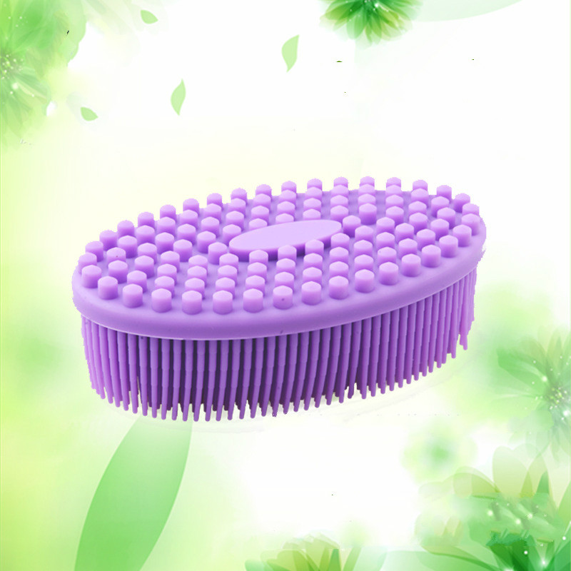 Baby bath brushes ultra soft silicone bath and shower massage brush shampoo brush gentle touch cleaning brush children\'s makeup (6)