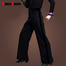 2017 Men Latin Dance Trousers Pants Velvet Mens Ballroom Dance Pants Black/Red Rumba/Samba/Tango/Cha Cha/Jazz Dancewear DQ6049