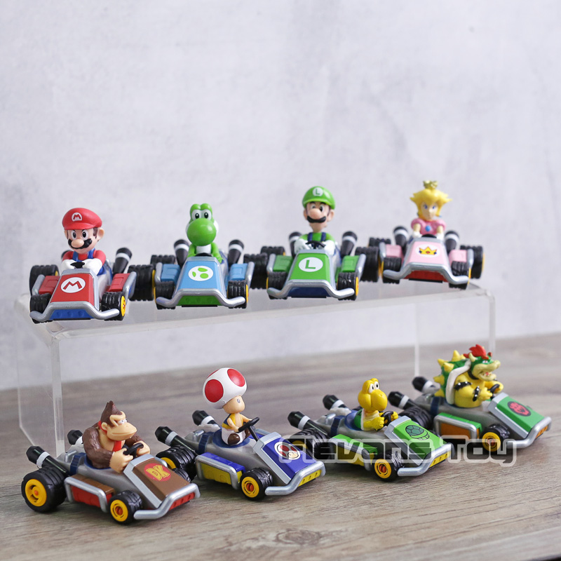 Mario Kart 8 Pull Backs Series 2 Full Set of 5 Bowser Toad Donkey Kong Peach ++