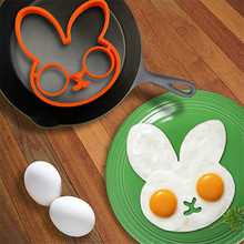 Creative Lovely Breakfast Silicone Egg Mould Cooking Tools Rabbit Shape Chocolate Molds