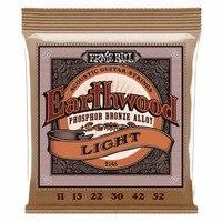Ernie Ball 2148 Earthwood Phosphor Bronze Light Acoustic Guitar Strings 011 052