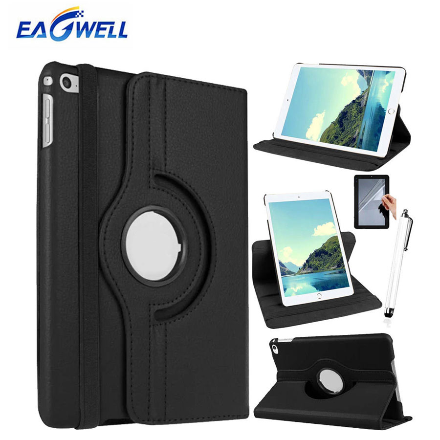 Eagwell 360 Degree Rotating Case For iPad 2 3 4 PU Leather Litchi Pattern Tablet Smart Cover Flip Case Stand for iPad 4/3/2