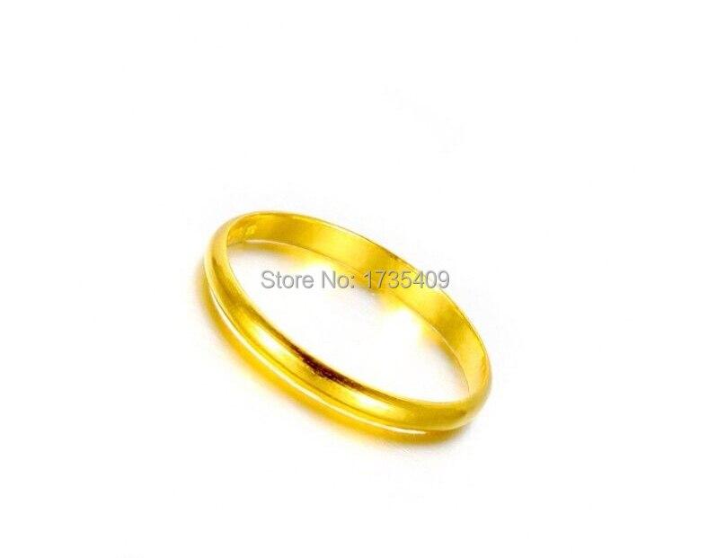 Véritable 2.0G solide 999 24 K or jaune/Design lisse parfait taille de bague 11 - 2