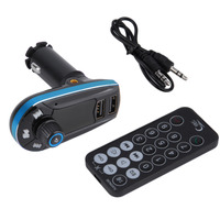 Portable Car Audio FM Transmitter Bluetooth MP3 Player USB Output Wireless Car Kit Charger Blue High