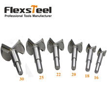 цена на Flexsteel 6 Pieces/Set YG8 Forstner Auger Drill Bit Set Woodworking Hole Saw Wooden Wood Cutter Dia. 16/18/20/22/25/30 MM