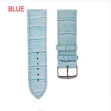 Uomini Donne Cinturini 12mm, 14mm, 16mm, 18mm, 20mm, 22mm, 26mm Sweatband Molle del Cuoio Orologio Bracciale Acciaio Fibbia Da Polso Per Orologio