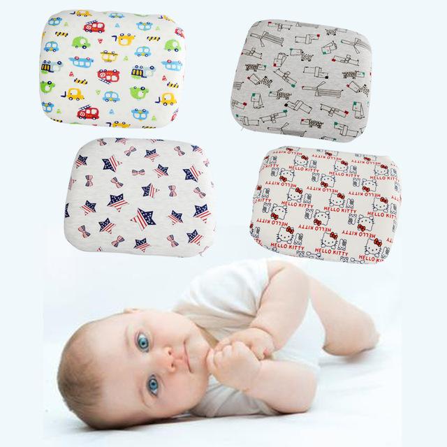Travesseiro do bebê 30 cm * 26 cm dos desenhos animados recém-nascidos almofadas pescoço orgânica criança crianças infantil baby anti rolo pillow para cabeça posicionador bebê plana
