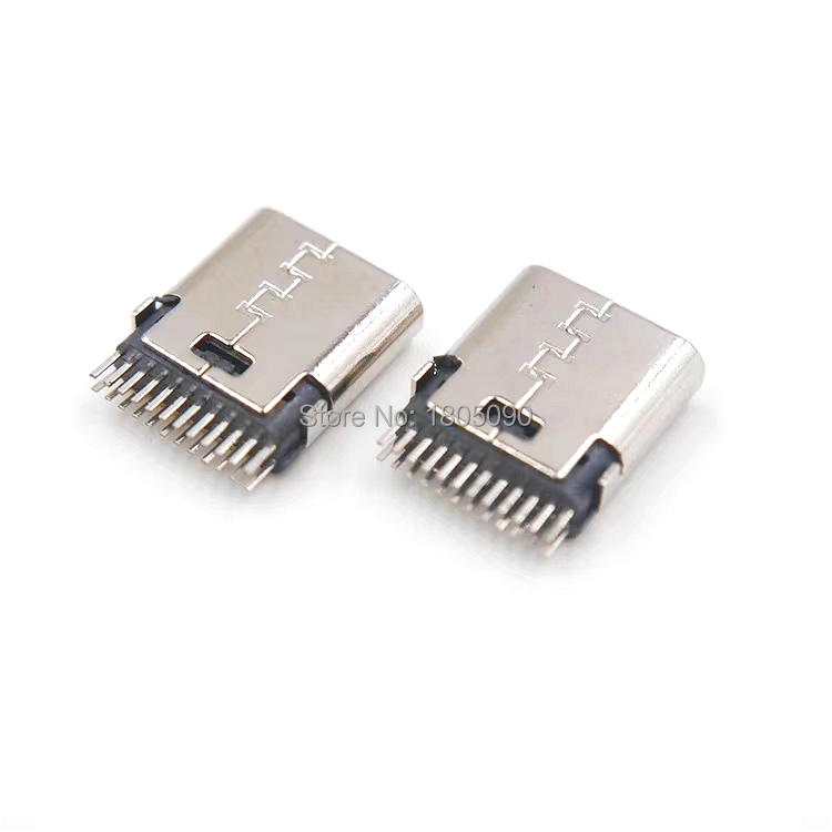 10pcs micro USB vertical 24P for 3.1 Type C Connector 24p type-C no side 24Pin Female Socket jack Charge port Plug 3.1 Version цена