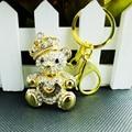 New Fashion Key Chains Cute teddy bear keychain Charms Personalized Metal Keychains Creative Gift Car Keychain For Girls
