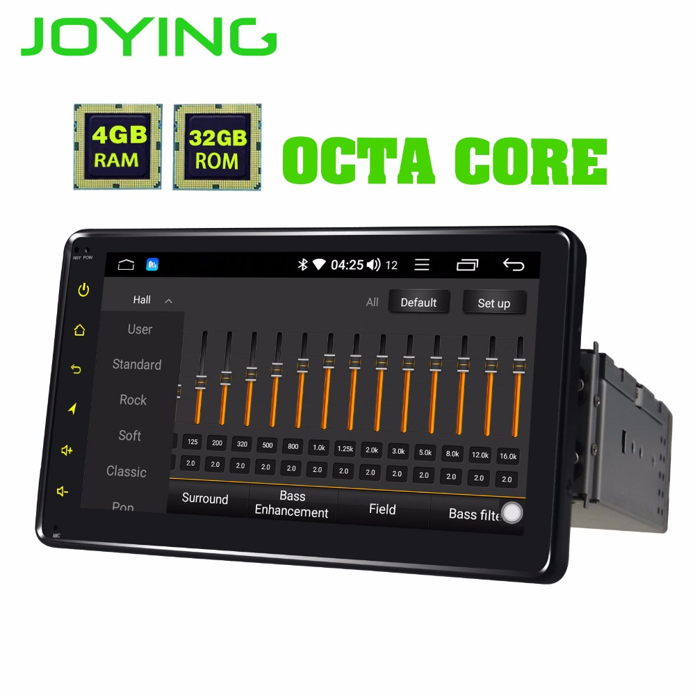 JOYING Android 8.1 autoradio stéréo GPS HD tête unité 1 din 7 pouces 4 GB RAM 32 GB ROM Octa core autoradio AM FM DSP Wifi Bluetooth