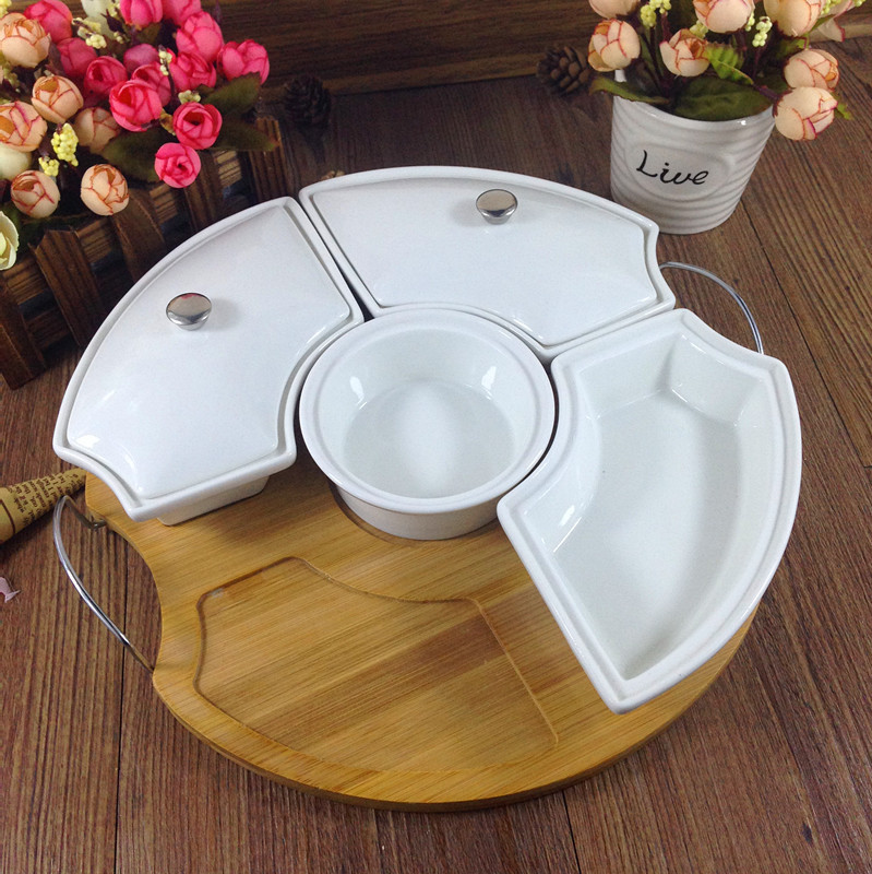 Ceramic Division Dining Dish Set Decorative Pottery Candy Box Tableware And  Kitchenware Utensil Appliance Gift Craft Accessories In Dishes U0026 Plates  From ...