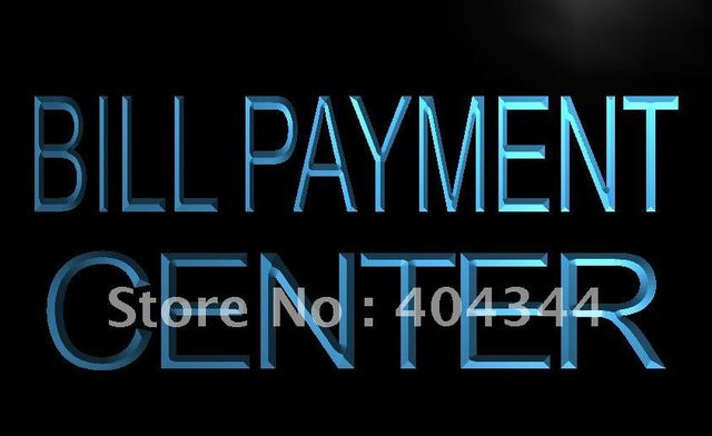LB917  Bill Payment Center Lure Adv Ad Light Sign